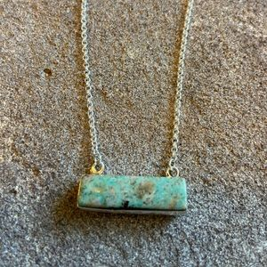 Navajo Turquoise & Sterling Silver Bar Necklace